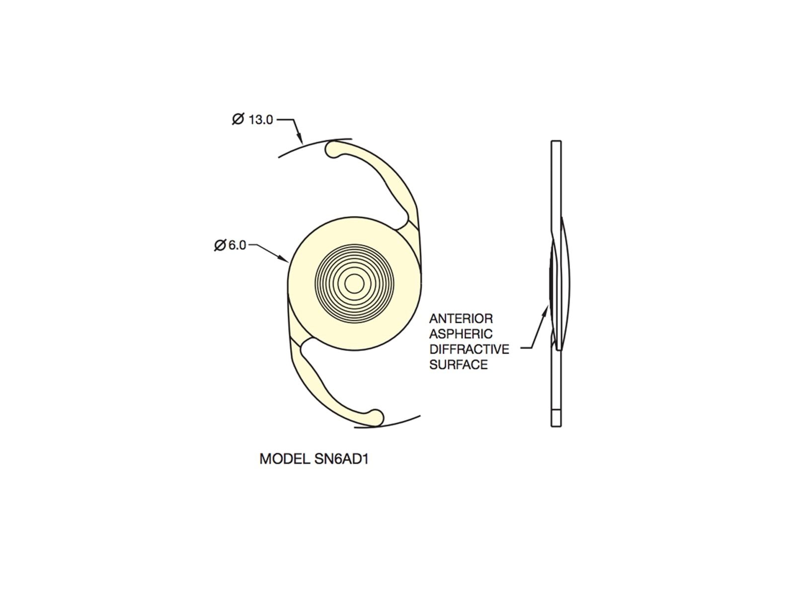 AcrySof IQ ReSTOR +3.0 D IOL (SN6AD1)